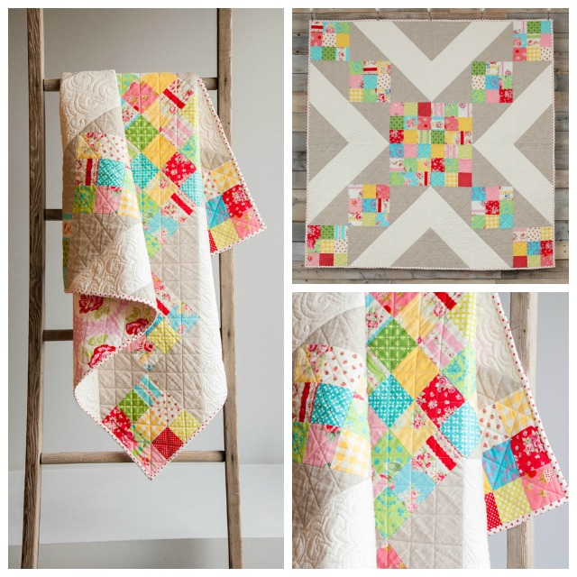 """Cross My Heart""                                                                                                  The pattern for this quilt is available in my new Craftsy class- Twisted Irish Chain"