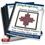 Garnet Knotwork Celtic Cross Stitch