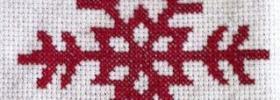 Christine's Finished Snowflake Cross Stitch