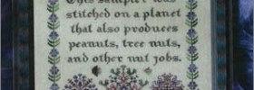 Nut Jobs Ink Circles Cross Stitch Sampler