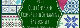 Quilt Inspired Cross Stitch Ornament Pattern Set (4 patterns)
