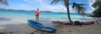 Paddleboard to Salomon Beach