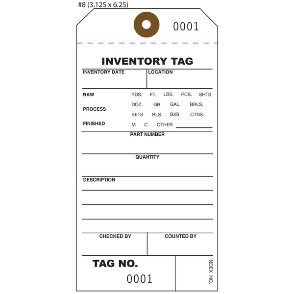 Custom Inventory Hang Tags, Numbered, Part, Asset St Louis Tag