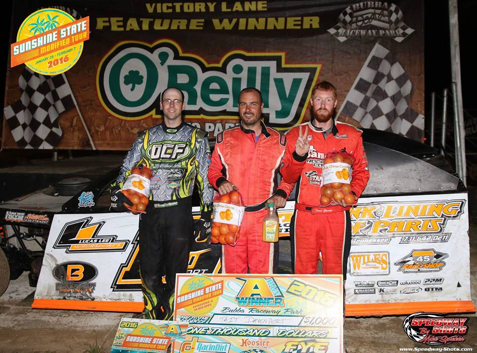 Tait Davenport takes Sunshine State UMP Modified Tour win at Bubba Raceway Park!