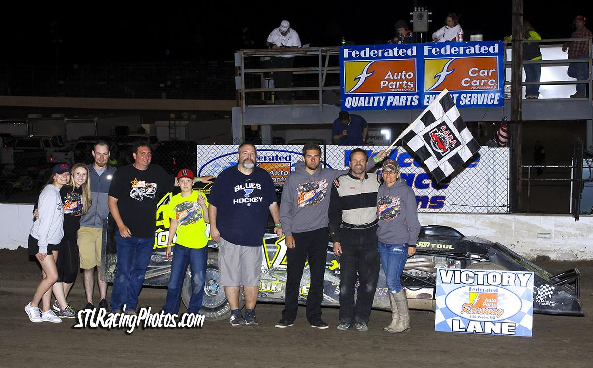 Michael Kloos, Rick Conoyer, Trey Harris, Kevin Mosier & Joe Laws take wins at Federated Auto Parts Raceway at I-55!