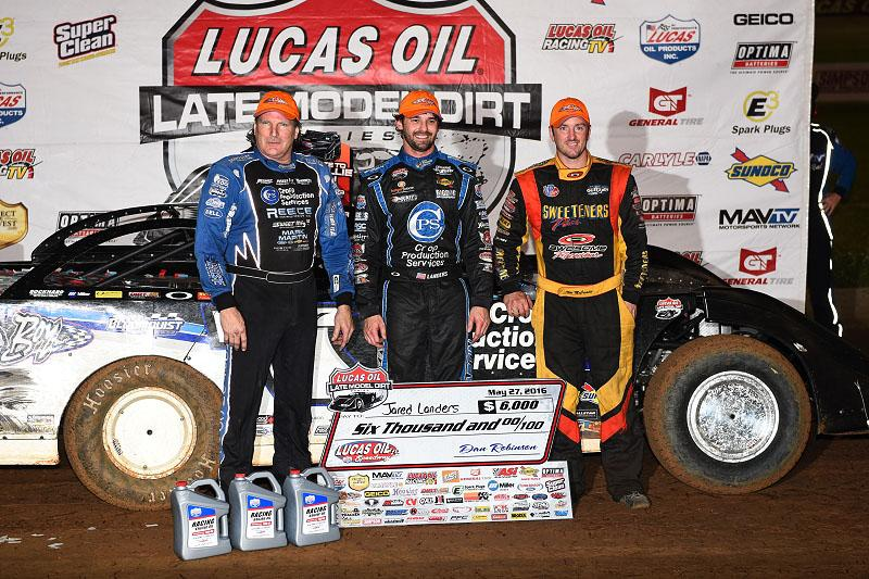 Landers Lands First Lucas Oil Victory of 2016