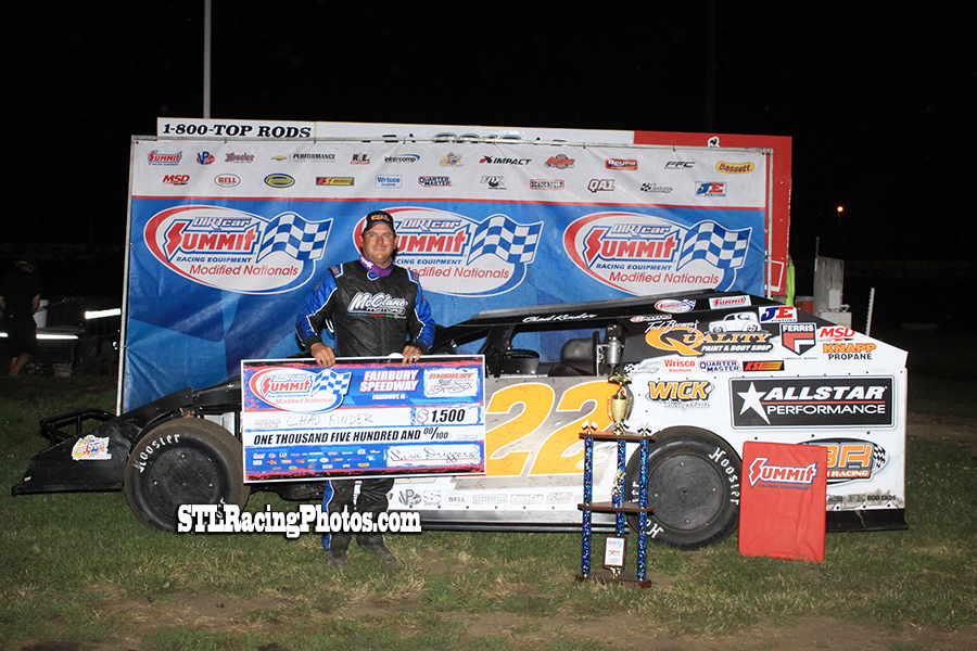 Chad Kinder wins Fairbury Speedway's Summit Modified Nationals!