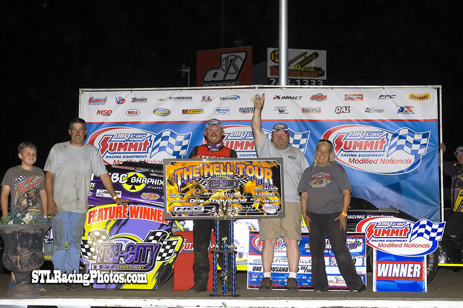 Clayton Miller wins Summit Modified Nationals at Tri-City Speedway!