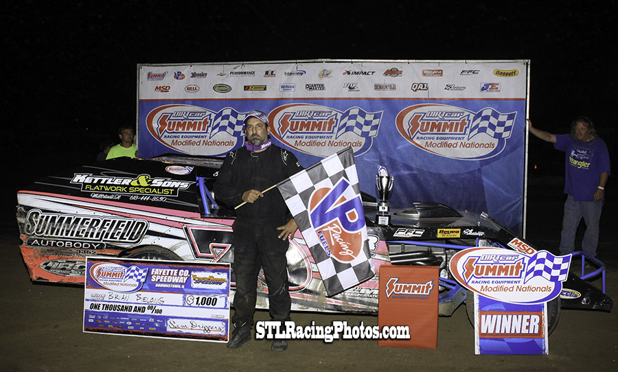 Brian Bielong takes Summit Modified Nationals win at Fayette County Speedway!