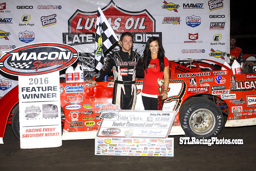 Pierce Battles Hard for Lucas Oil Win at Macon