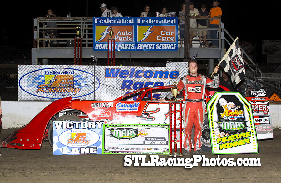 Bobby Pierce, Michael Long, Jeff LeBaube & Patrick Hawkins take wins at Federated Auto Parts Raceway at I-55