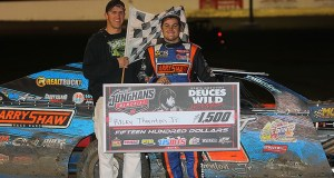 Ricky Thornton Jr. won the first of two 25-lap main events.