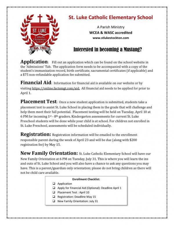Admission St Luke\u0027s School