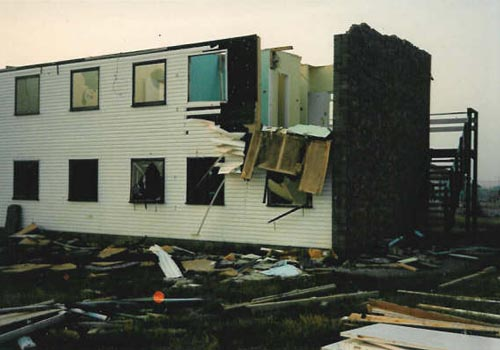 New Romney wing during demolition