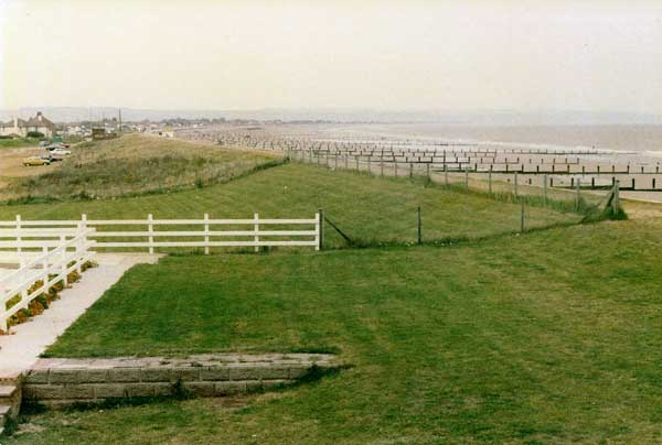 View from chalet towards Dymchurch, August 1980