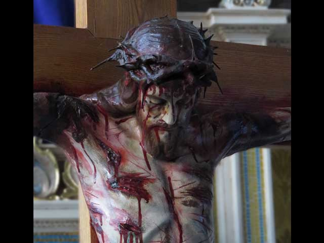 Close-up of the Crucifix used for Good Friday ceremonies