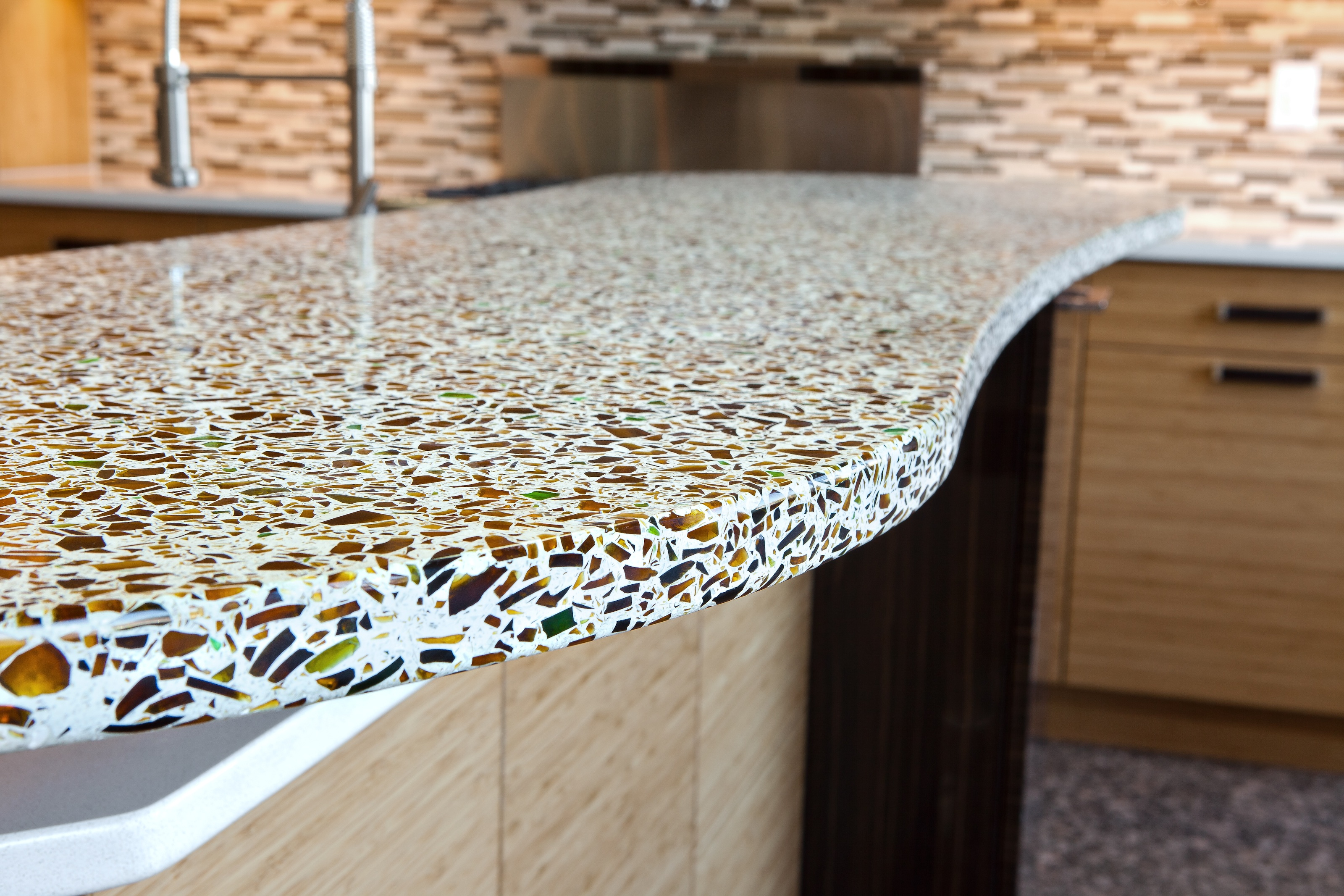 greenbuild exhibitor spotlight curava eco news work kitchen counters made from recycled glass recycled glass and cement kitchen counters