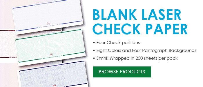 StockChecks Blank Check Paper Check Stock Blank Laser Checks