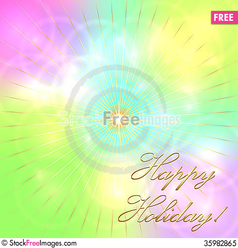 Vector Multicolor Pastel Holiday Background - Free Stock Images