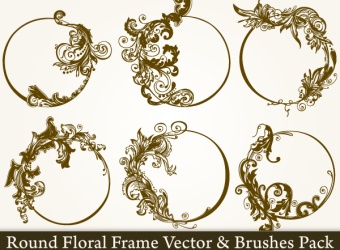 round-floral-frame-vector-photoshop-brushes-pack