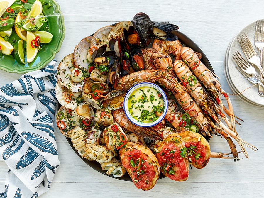 Seafood Bbq Feast By Miguel Maestre Stockland