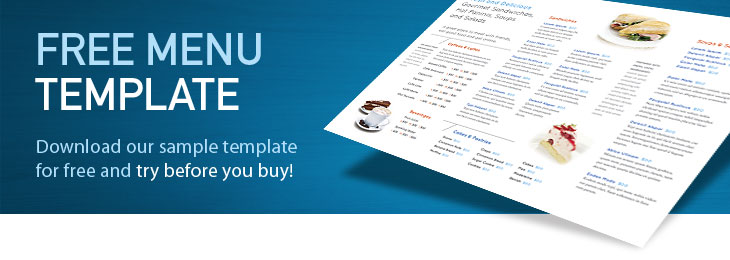 menu templates free download