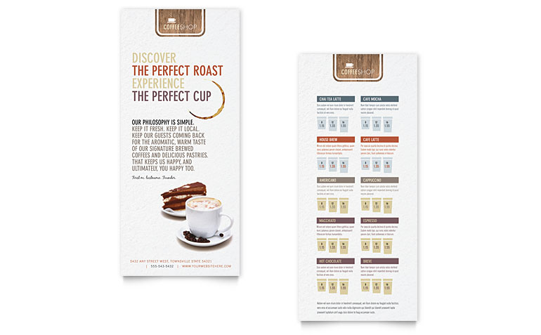 coffee-shop-dl-brochurejpg 770×477 pixels design rack cards - coffee shop brochure template