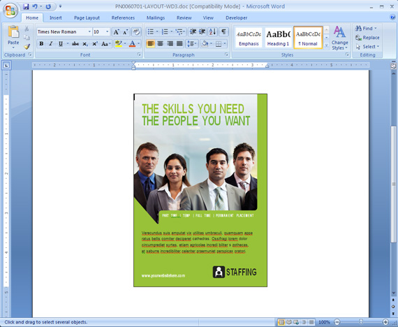 Save a Marketing Document as a Word Template StockLayouts Blog - microsoft word template flyer