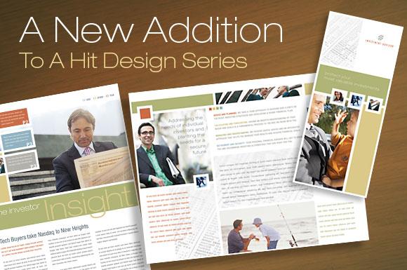 Tri Fold Brochure layouts Templates for Financial Advisor