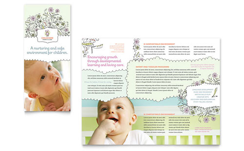 Babysitting  Infant Care Pamphlets Templates  Graphic Designs