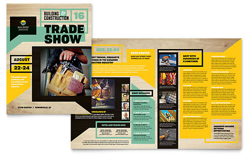 Construction Templates - Brochures, Flyers, Postcards - pamphlet sample