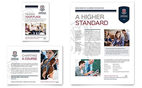 High School Newsletter Template Design - sample of school newsletters