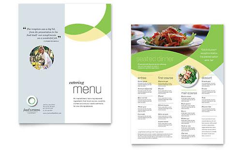 Food Catering Menu Template Design - a la carte menu template