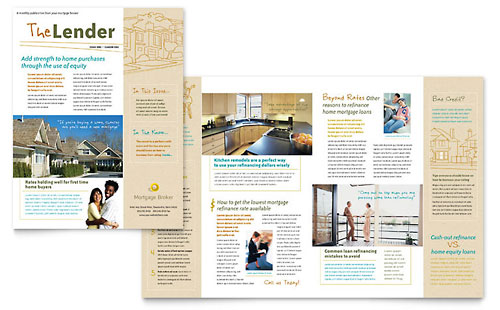 Financial Services Newsletters Templates \ Designs - news letter formats