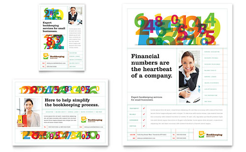 Accounting  Bookkeeping Flyers Templates  Graphic Designs - advertising flyers templates free