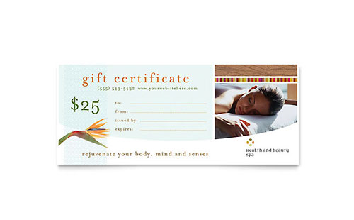 Gift Certificate Templates - InDesign, Illustrator, Publisher, Word - gift certicate template