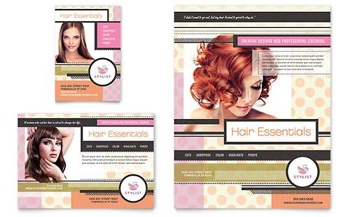 Hair Salon Print Ads Templates  Graphic Designs