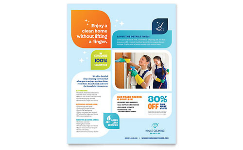 Cleaning Services Flyer Template Design - web flyer template