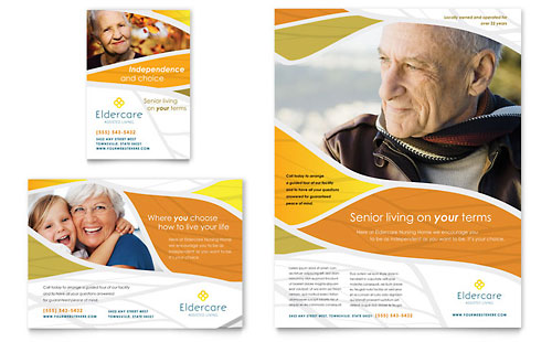 Assisted Living Flyer  Ad Template Design - advertisement flyer template