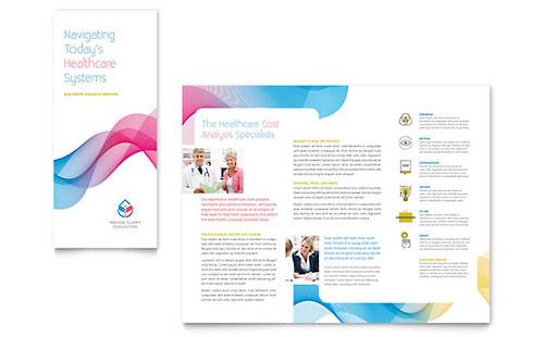 Insurance Consulting Tri Fold Brochure Template Design - microsoft trifold template