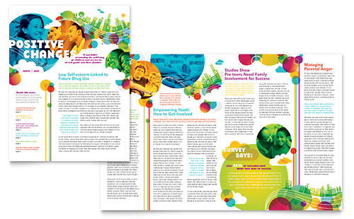 Half-Fold Newsletter Templates 2-Page, 4-Page Newsletters - news letter formats