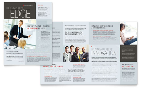 Corporate Business Newsletter Template Design