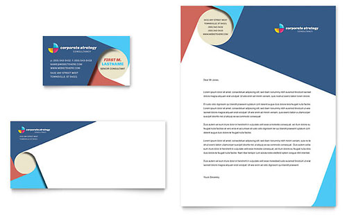 Business Consulting Letterhead Templates Professional Services - professional letterhead