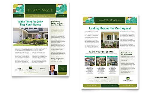 Real Estate Newsletter Template Design - news letter formats