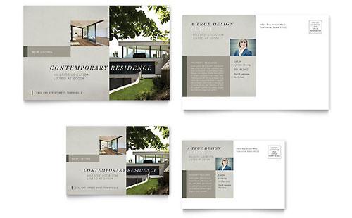 Contemporary Residence Flyer Template Design - contemporary flyer