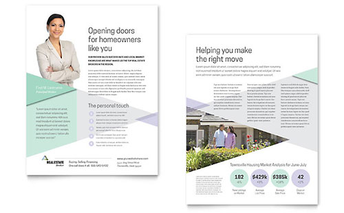 Residential Real Estate Sales Sheets Templates  Graphic Designs