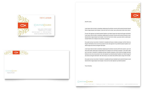 Religious  Organizations Letterheads Templates  Design Examples - microsoft stationery template