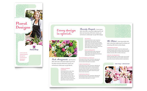 Tri-Fold Brochure Templates - InDesign, Illustrator, Publisher, Word - trifold indesign template