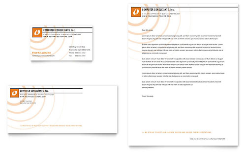 Computer Engineering Letterheads Templates  Graphic Designs