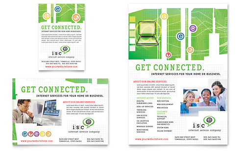 ISP Internet Service Flyer  Ad Template Design - web flyer template